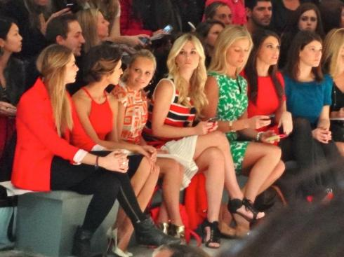 Tinsley Mortimer and India de Beaufort front row at Milly